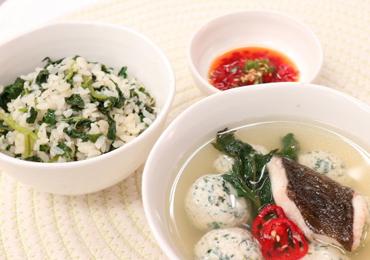 봄 약선 / 도다리완자쑥국과 어수리나물밥